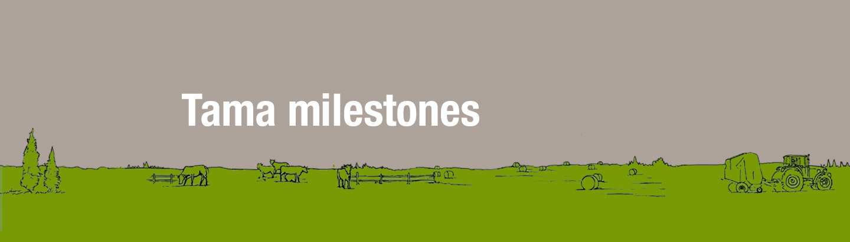 Tama Milestones